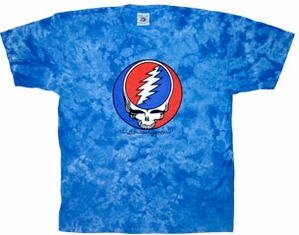 Grateful Dead Shirt Steal Your Face Blue Tie Dye Adult Tee T-Shirt