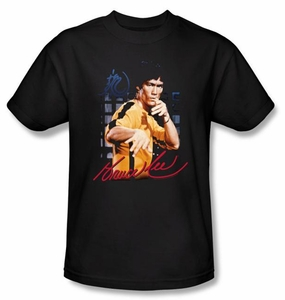 Bruce Lee Kids T-shirt Youth Yellow Jumpsuit Black