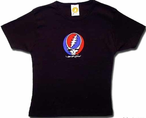 Grateful Dead Juniors T-shirt Steal Your Face Black Fitted Tee Shirt