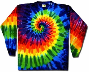 Sundog Tie Dye T-shirt - Long Sleeve Swirl Adult Tee