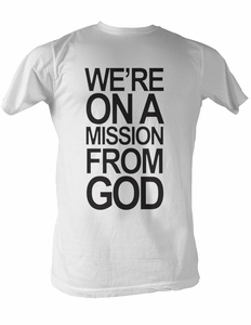 The Blues Brothers T-shirt Mission From God Adult White Tee Shirt