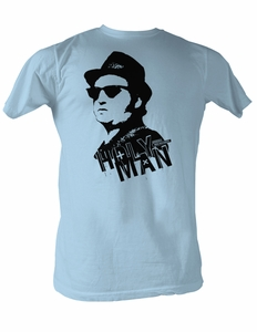 The Blues Brothers T-shirt Holy Man Adult Light Blue Tee Shirt