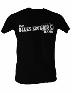 The Blues Brothers T-Shirt Band Shirt Adult Black Tee Shirt