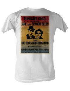 The Blues Brothers T-Shirt Tonight Only Adult White Tee Shirt
