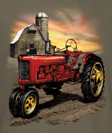 Farm Tractor Shirt - Adult Farming Tee Shirt