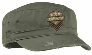 US Army Cap Hat  -  Badge Patch Distressed Military
