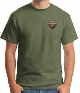 US Army T-Shirt - Badge Adult Military Tee