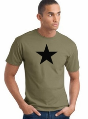 Black Star Adult Tee Shirt