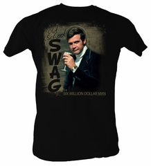The Six Million Dollar Man T-Shirt - Old School Swag Adult Black Tee