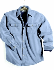 Men's Tall Sizes 100% Cotton Denim Tahoe Long Sleeve Shirt Jackets