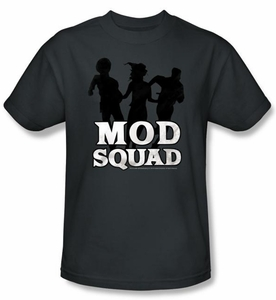Mod Squad Kids Shirt Mod Squad Run Simple Youth Charcoal T-Shirt