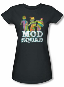 Mod Squad Juniors Shirt Run Groovy Charcoal T-Shirt