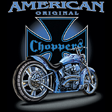 Chopper T-shirt - American Originals Biker Tee