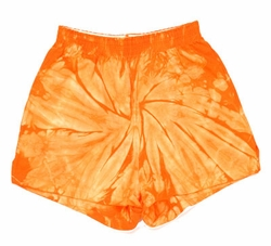 Tie Dye Spider Orange Retro Vintage Groovy Adult Unisex Soffe Shorts