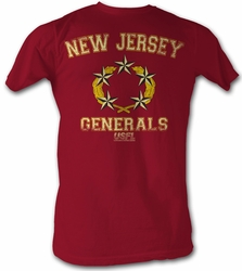 USFL New Jersey Generals T-shirt Football League Adult Red Tee Shirt