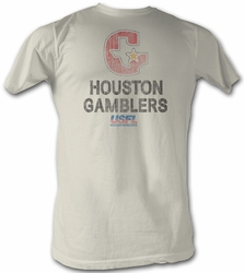 USFL Houston Gamblers T-shirt Football League Adult Vintage White Tee