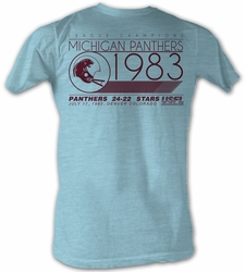 USFL Michigan Panthers T-shirt 1983 League Champions Blue Heather Tee