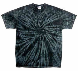 Tie Dye T-shirt Spider Black Retro Vintage Groovy Adult Tee Shirt