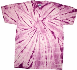 Tie Dye T-shirt Spider Lavender Retro Vintage Purple Adult Tee Shirt