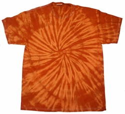 Tie Dye T-shirt Spider Texas Orange Retro Vintage Adult Tee Shirt