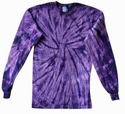 Tie Dye Long Sleeve Shirt Spider Purple Tee Shirt