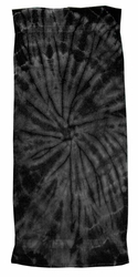 Vintage Beach Towel - Tie Dye Spider Black Retro