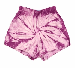 Tie Dye Kids Shorts Spider Lavender Youth Soffe Shorts