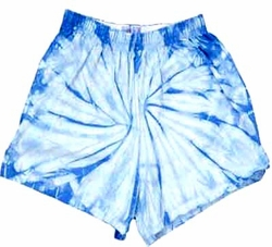 Tie Dye Kids Shorts Spider Baby Blue Youth Soffe Shorts