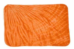 Tie Dye Slash Orange Retro Vintage Groovy Youth Infant Toddler Blanket