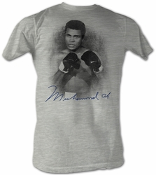 Muhammad Ali T-shirt Profile Adult Heather Grey Tee Shirt