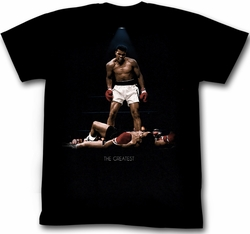 Muhammad Ali T-shirt All Over Again Adult Black Tee Shirt