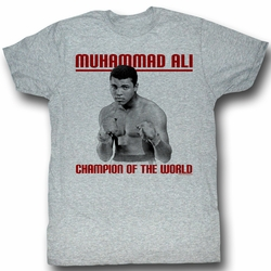 Muhammad Ali T-shirt Champ Adult Heather Grey Tee Shirt