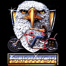 Biker T-shirt - Survivor Eagle Adult Tee