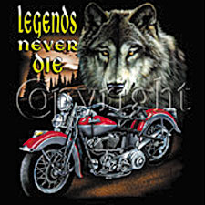 Indian Motorcycle T-shirt - Legends Never Die Biker Tee