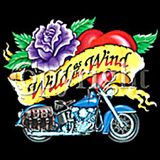 Biker T-shirt - Wild as the Wind Indian Motorcycle Tee