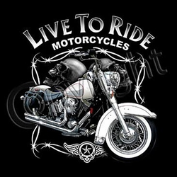 Indian Motorcycle T-shirt - Live to Ride Biker Tee