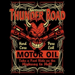 Biker T-shirt - Thunder Road Adult Tee