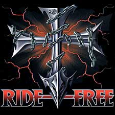 Biker T-shirt - Ride Free Cross Tee