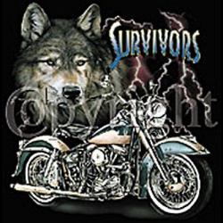 Biker T-shirt -  Survivors Adult Tee Shirt