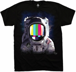 Space Station Astronaut T-shirt - Adult Black Tee Shirt
