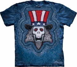 Uncle Sam Shirt Tie Dye Skull T-shirt Adult Tee