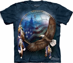 Eagle Shirt Tie Dye Freedom's Dream T-shirt Adult Tee