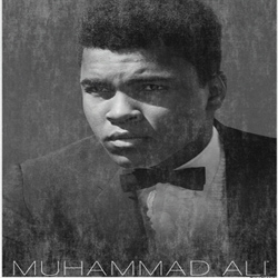 Muhammad Ali Shirt Bow Tie Adult White Tee T-Shirt