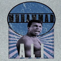 Muhammad Ali Shirt Burst O Hammad Adult Athletic Heather Tee T-Shirt