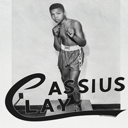 Muhammad Ali Shirt Cassius Clay Adult White Tee T-Shirt
