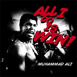 Muhammad Ali Shirt Look At Him Go Adult Black Tee T-Shirt