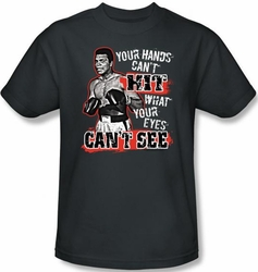 Muhammad Ali T-shirt Adult Can�t Hit Charcoal Tee Shirt