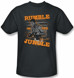 Muhammad Ali T-shirt Adult Ready to Rumble Charcoal Tee Shirt