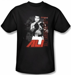 Muhammad Ali T-shirt Adult Ultimate Boxer Black Tee Shirt