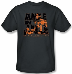 Muhammad Ali T-shirt Adult Rumble Crumble Charcoal Tee Shirt